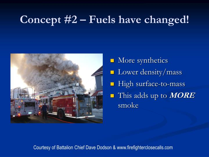 Concept #2 – Fuels have changed!