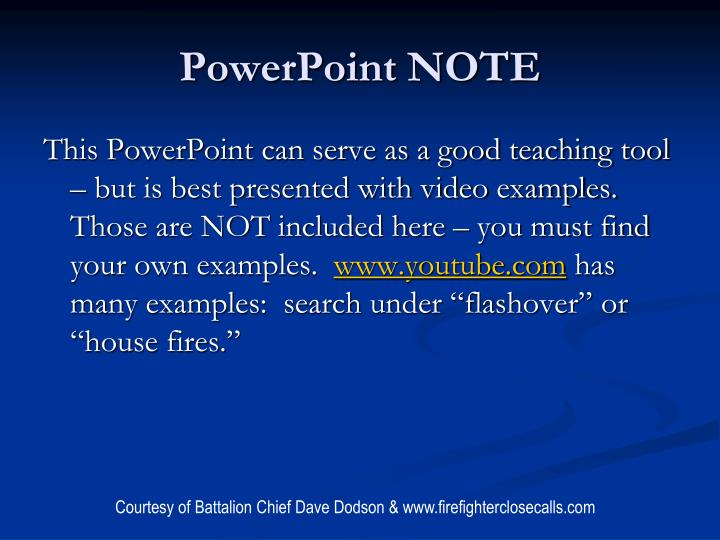 PowerPoint NOTE
