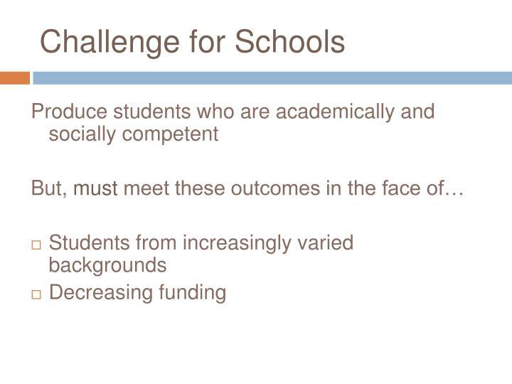 Challenge for schools
