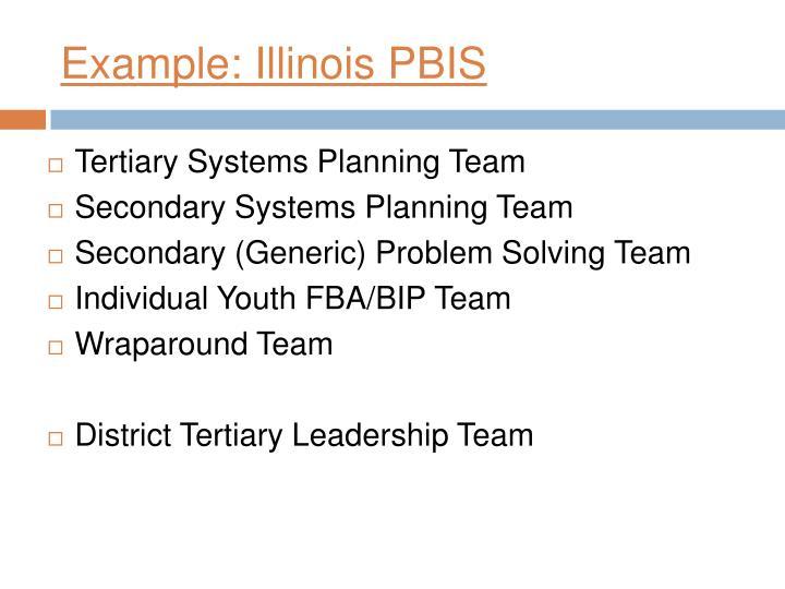 Example: Illinois PBIS