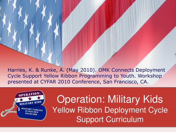 operation military kids yellow ribbon deployment cycle support curriculum n.
