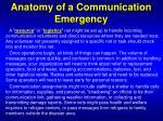 anatomy of a communication emergency18