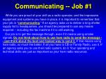 communicating job 1