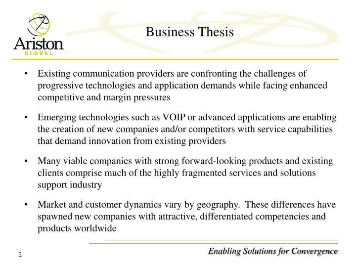 Business thesis