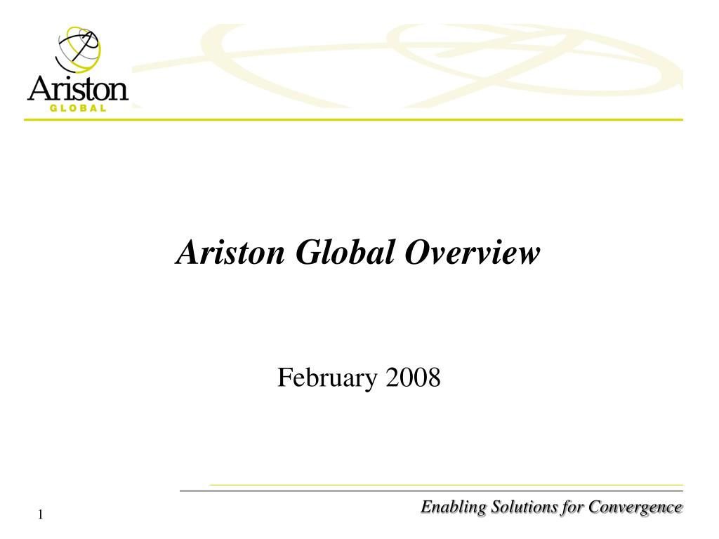 Ariston Global Overview