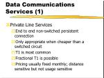 data communications services 1