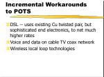 incremental workarounds to pots