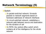 network terminology 5