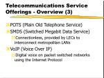 telecommunications service offerings overview 3