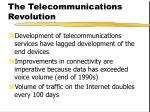 the telecommunications revolution
