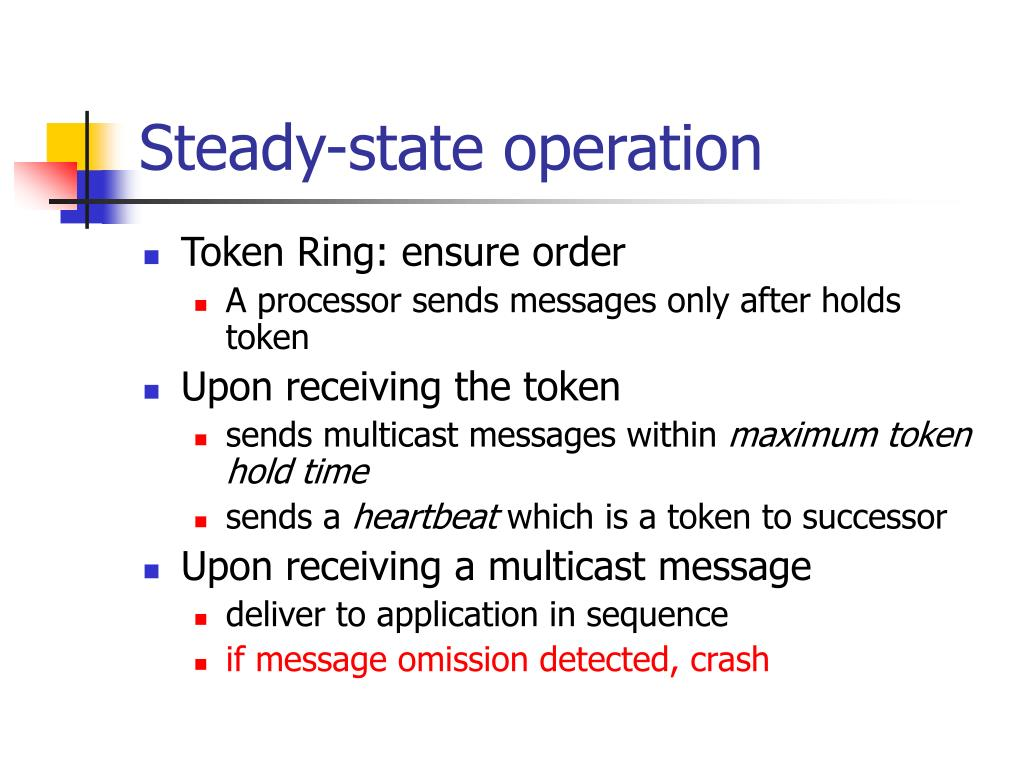 Steady-state operation