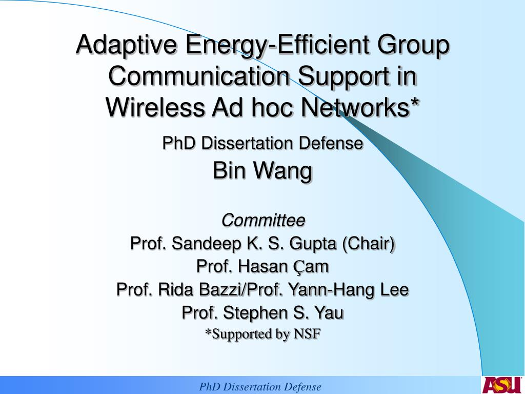 adaptive energy efficient group communication support in wireless ad hoc networks l.