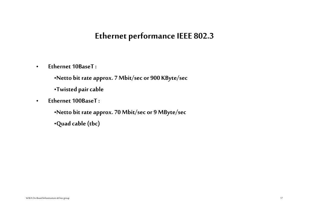 Ethernet performance IEEE 802.3