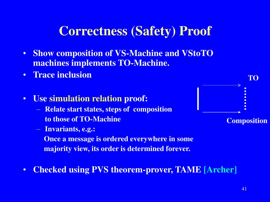 Correctness (Safety) Proof