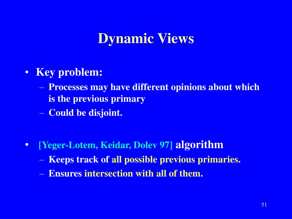 Dynamic Views