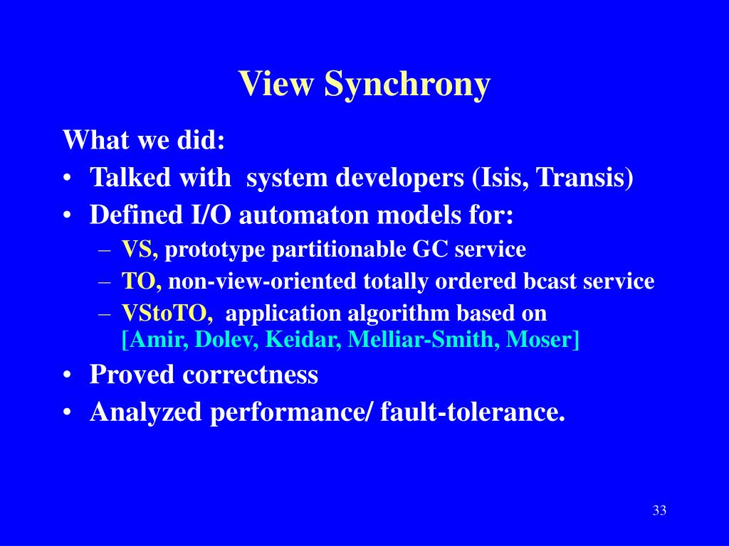 View Synchrony
