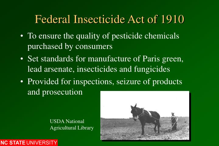 Federal insecticide act of 1910