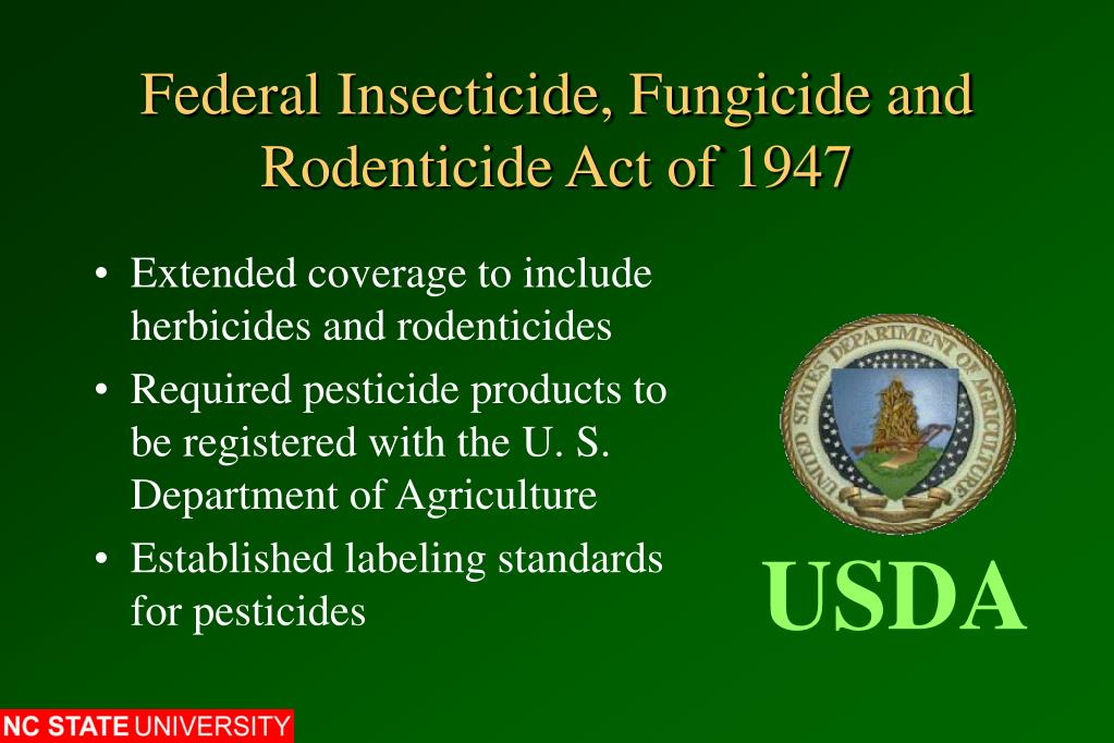 Federal Insecticide, Fungicide and Rodenticide Act of 1947