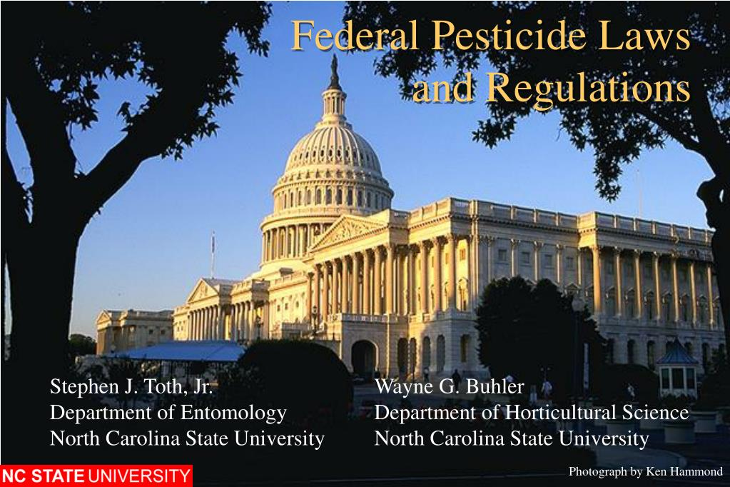 federal pesticide laws and regulations l.