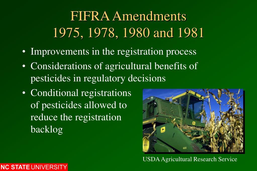 FIFRA Amendments