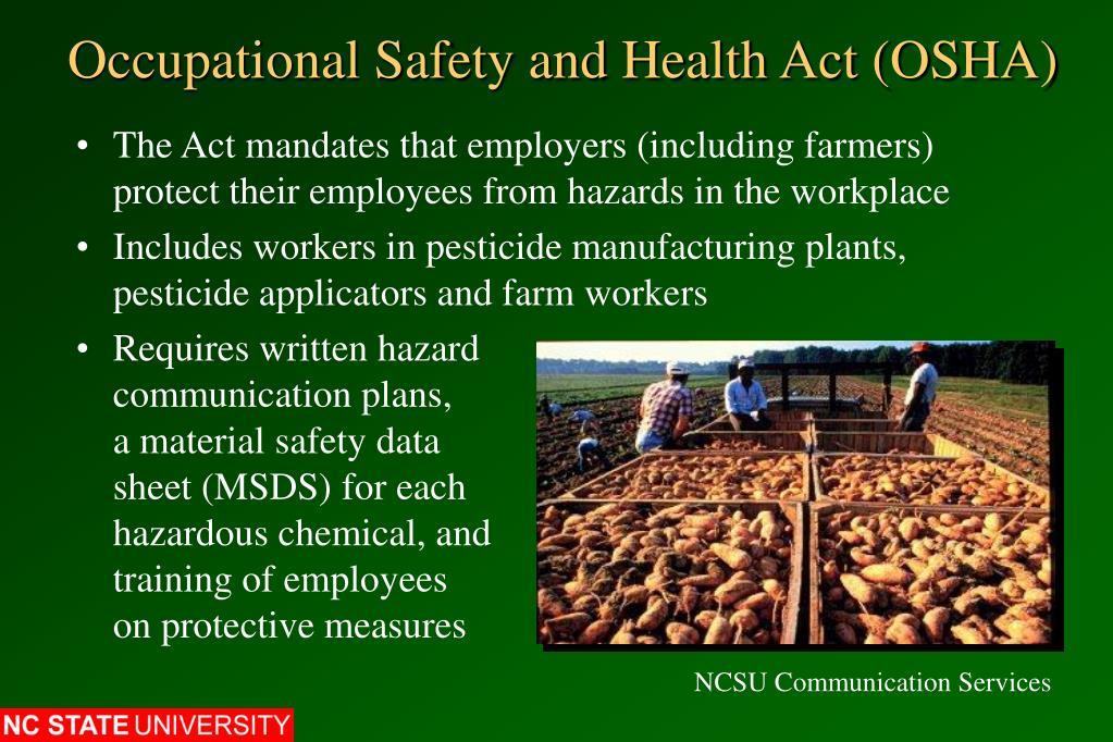 Occupational Safety and Health Act (OSHA)