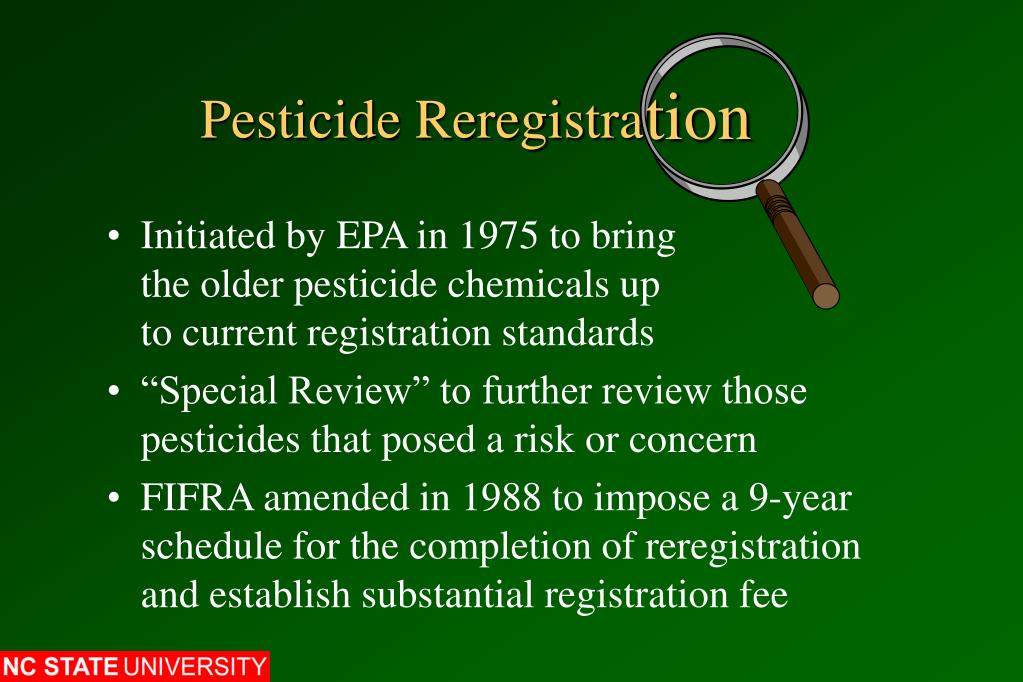 Pesticide Reregistra