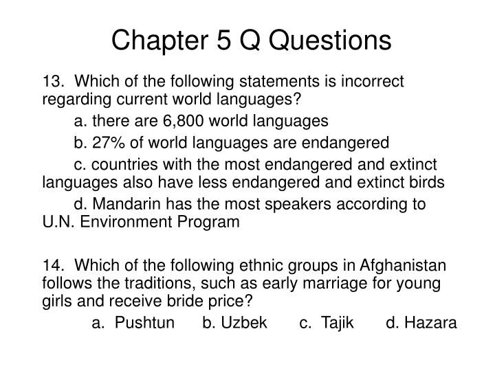 chapter 5 q questions n.
