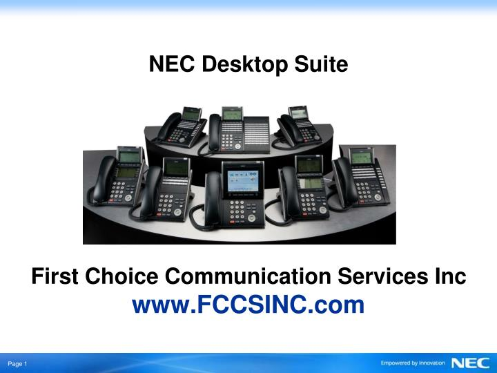 Nec desktop suite first choice communication services inc www fccsinc com