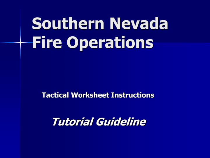 southern nevada fire operations n.