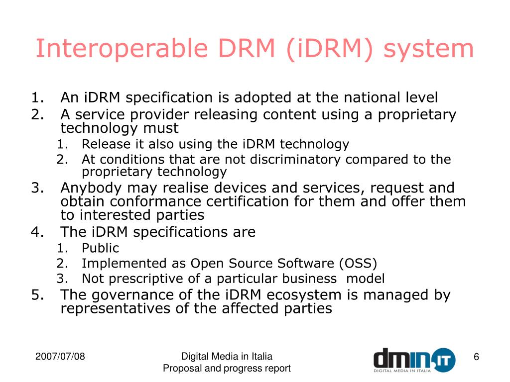 Interoperable DRM (iDRM) system