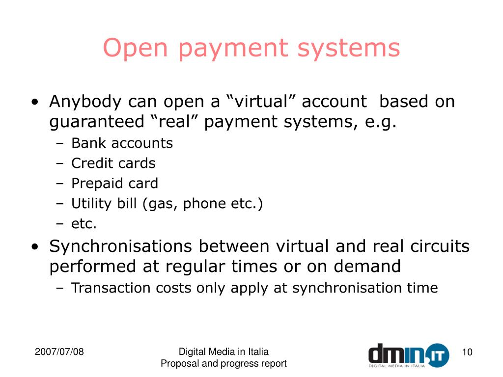Open payment systems