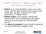 what is dmin it digital media and the dmin it proposal