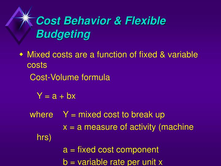 separating a mixed cost into the fixed and variable components Management accounting theory of cost behavior management accounting contains a number of decision‑making tools that require the conversion of all operating costs and expenses into fixed and variable components.