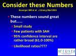 consider these numbers boesiger bm et al j emerg med 2005