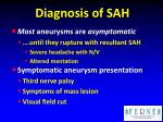 diagnosis of sah2