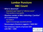 lumbar puncture rbc count