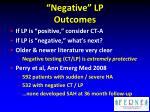 negative lp outcomes