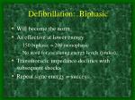 defibrillation biphasic