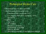 prehospital stroke care