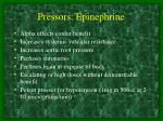 pressors epinephrine