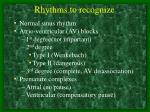 rhythms to recognize