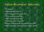 sodium bicarbonate indications