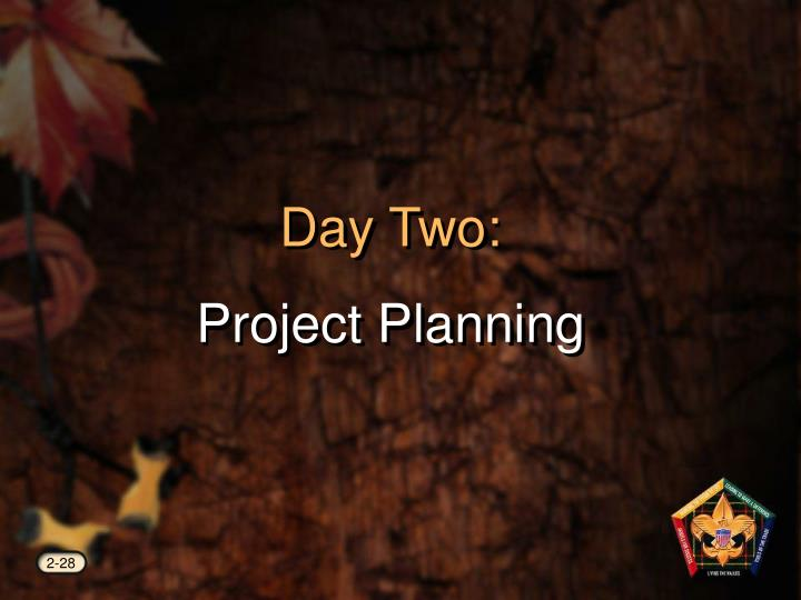 day two project planning n.