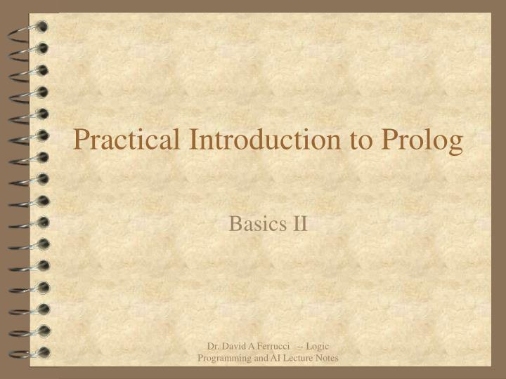 practical introduction to prolog n.