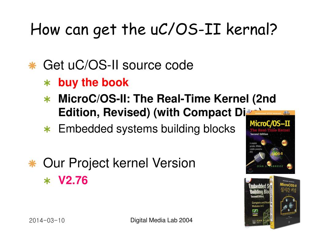 How can get the uC/OS-II kernal?