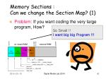 memory sections can we change the section map 1