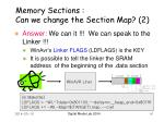 memory sections can we change the section map 2