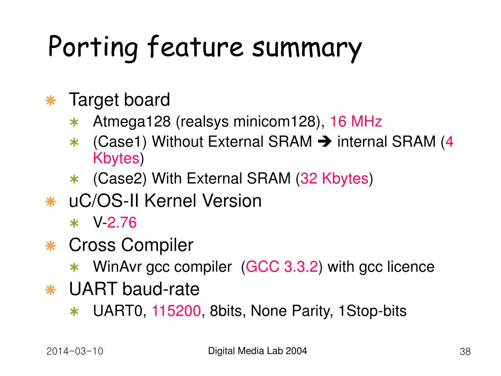 Porting feature summary
