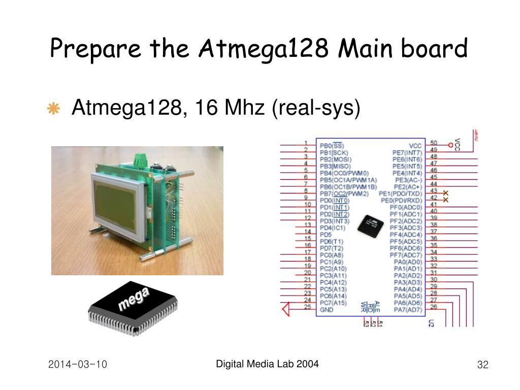 Prepare the Atmega128 Main board