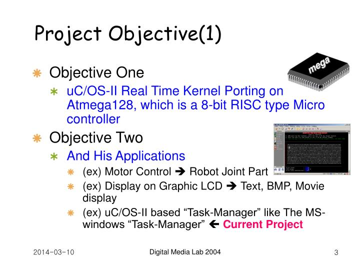 Project objective 1